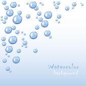 Yüzen bir bubbles. güzel vektör arka plan — Stok Vektör
