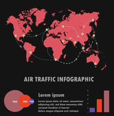 Air traffic,Vector Infographics Flat Design. — Stock Vector