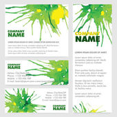 Vector Poster Template with Watercolor Paint Splash. — Stock Vector