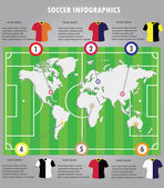 Soccer infographics elements infographic vector. — Stock Vector