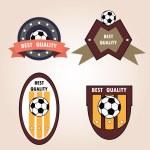 Set soccer football emblems , vector. — Stock Vector #68724555