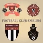 Set soccer football emblems , vector. — Stock Vector #68725039