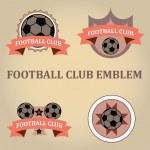 Set soccer football emblems , vector. — Stock Vector #68725073