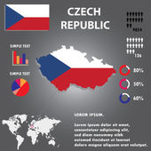 Czech Republic Country Infographics Template Vector. — Stock Vector