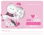 Loving couple , vector illustration. — Stock Vector