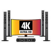 Audio and smart tv — Wektor stockowy