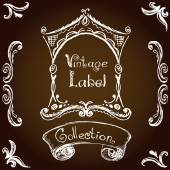 Vintage label, hand drawing — Stock Vector