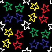 Seamless pattern with colored stars  — Stockvektor