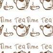 Tea time vintage seamless background. — Stock Vector #73751661