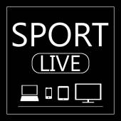 Sport live on all mobile devices - laptop, smart phone, tablet,  — Cтоковый вектор