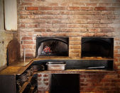 Brick Oven Kitchen — Stock Photo