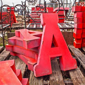 Letter A Tin Letters — Stock Photo