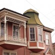 Pink Turret Victorian House — Stock Photo #65918731