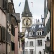 View of old houses in center of Zurich — Stock Photo #58455093