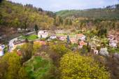 Aerial view of Krivoklat village — Stock Photo