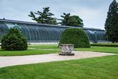 Historic greenhouse at chateau Lednice — Stock Photo