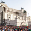 Famous Italian monument Vittorio Emanuele II in Rome — Stock Photo #58460683