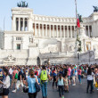 Famous Italian monument Vittorio Emanuele II in Rome — Stock Photo #58460801