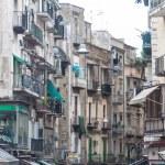 Street in historic center of Naples, Italy — Stock Photo #58462823