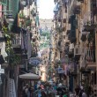 Street in historic center of Naples — Stok fotoğraf #58464847