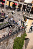 People on a stairs in Sorrento — 图库照片