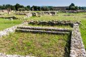Ruins of ancient greek city Paestum — Fotografia Stock