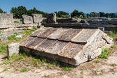 Ruins of ancient greek city Paestum — ストック写真