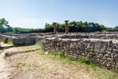 Ruins of ancient greek city Paestum — Stockfoto