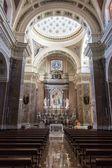 Interior of a church Santissima Annunziata in Salerno — Stock Photo
