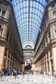 Shopping gallery Galleria Umberto in Naples — Stock Photo