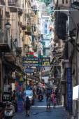 Street in historic center of Naples — Stock Photo