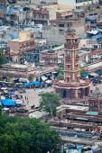 Roofs and clock tower in Jodhpur — Stok fotoğraf