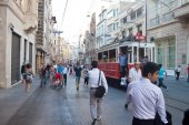 Istiklal Avenue in Istanbul — Stock Photo