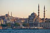 Panorama of mosques in Istanbul — Stock Photo