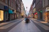 People walk on a street in Stockholm — Стоковое фото