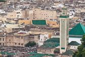 Aerial view of a mosque in Fes — Стоковое фото