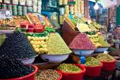 Olive stall at a market  — Foto de Stock