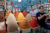 Spices stall at a market — Stock Photo