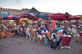 People in a restaurant in Meknes — Stock Photo