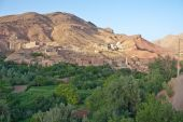 Village in Dades Gorge valley — Stock Photo