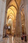 Interior of Cathedral in Seville — 图库照片