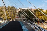 Pedestrian bridge in Bilbao — Stock Photo