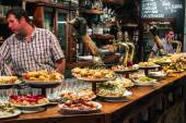 Bar with traditional pinchos — Stock Photo