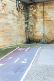 Abrupt end of cycling path — Stock Photo