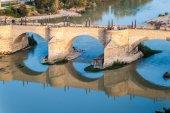 Most kamienny w Saragossie — Zdjęcie stockowe