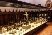 Ekspozycja w katedrze — Zdjęcie stockowe