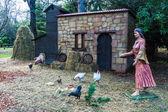 Figures representing Christmas nativity scene — Stock Photo