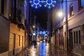 Christmas decoration in Vitoria — Stock Photo