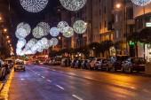 Christmas decoration in Logrono — Stock Photo