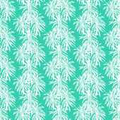 Seamless pattern with tropical palm leaves — Stock Vector